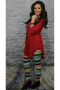 L&B Black Serape Leggings
