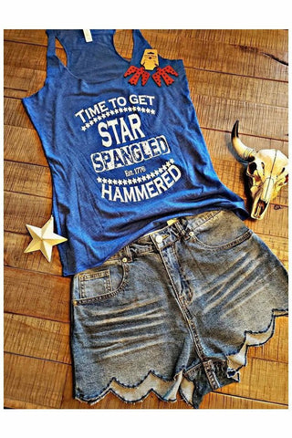 Star Spangled Hammered Tank
