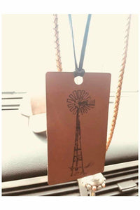 Windmill  Scented Leather Car Freshener