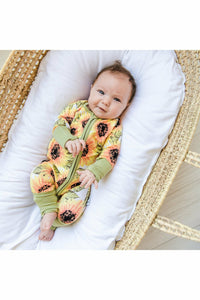 Little Sleepies Sunflowers Bamboo Viscose Zippy