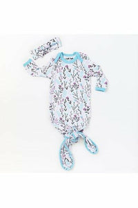 Little Sleepies Wildflower Bamboo Viscose Infant Knotted Gown