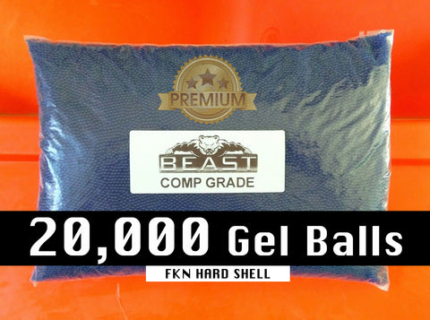 BeastPro 20,000 7-8mm GEL balls HIGH GRADE HARDENED BLUE GEL GUN AMMO - BeastPro Store