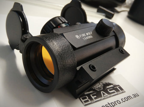 FIRE WOLF RED DOT METAL SCOPE : BEASTPRO GEL BALL GUN BLASTER