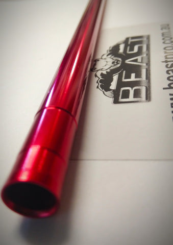 RED 27cm/270mm ALLOY COMP BARREL FOR GEL GUN BLASTER M4A1 GEN8 SCARV2 ETC : BEASTPRO UPGRADES