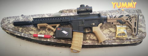 FULLY UPGRADED BF MK18 BLASTER  + STAGE 3.5 NYLON GEARBOX 310+ FPS + ALLOY SUPPRESSOR HOPUP + 11.1V + CHARGER + RIFLE CASE : BEASTPRO