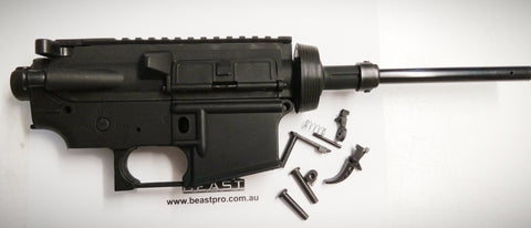NYLON SPLIT RECEIVER KIT WITH METAL TRIGGER + ACCESSORIES WELL M4 : BEASTPRO