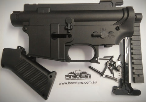 M4A1 GEN8 FULL NYLON RECEIVER UPGRADE PLUS GRIP AND ACCESSORIES GEL BALL GUN BLASTER
