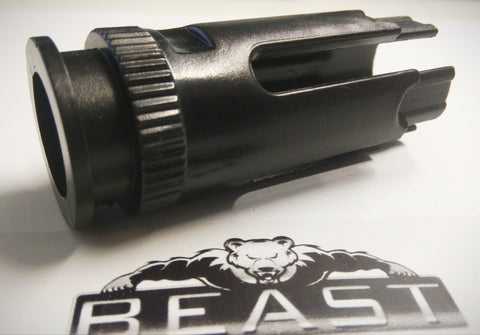 #FREE# FLASH HIDER BLACK 19mm : GEL BALL GUN BLASTER BEASTPRO