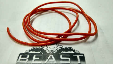 1MTR 16 GAUGE (AWG) SILICONE WIRE RED : Beastpro