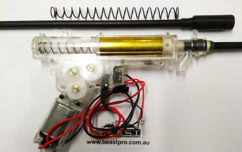 UPGRADED GEARBOX 265+ FPS (UPGRADE NO:1 INSTALLED -- ALLOY BARREL+TP/1.2mm SPRING/HOPUP) GEN 8 JINMING M4A1 GEN8 SCAR MP5 UMP45