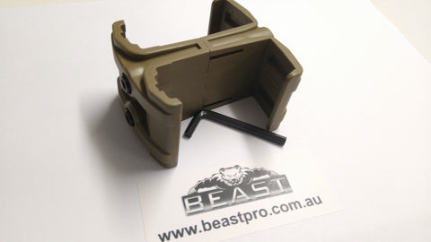 DOUBLE MAGAZINE HOLDER DESERT HIGH QUALITY: BEASTPRO UPGRADES