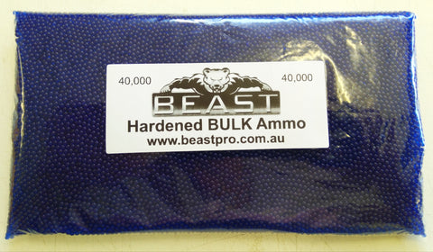 BULK 40,000 7-8mm *BLUE* GEL balls HIGH GRADE HARDENED GEL GUN BLASTER AMMO
