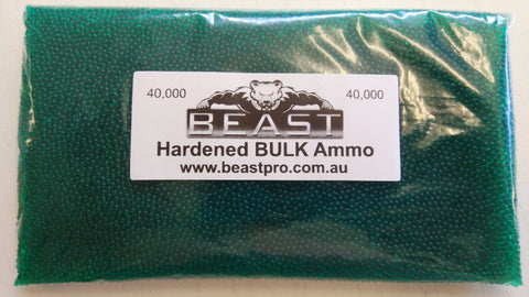 BULK 40,000 7-8mm *GREEN* GEL balls HIGH GRADE HARDENED GEL GUN BLASTER AMMO