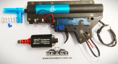 FIGHTING BRO 4.0 GEARBOX + CHIHAI 480+ MOTOR SPLIT BOX HIGH QUALITY BD556 / TTM / SLR / LDT416 / Magpul Receiver