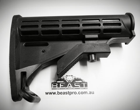 GEN 8/9 NYLON TACTICAL BUTTSTOCK (BLACK) : GEL GUN BLASTER BEASTpro