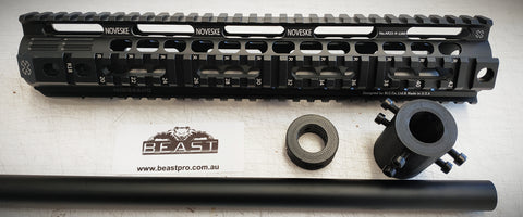 "ALLOY FISHBONE KIT #NOVESKE ( 12""/305mm) SUPER HQ  FOR M4A1 GEN8 : GEL BALL GUN BLASTER : BEASTPRO"