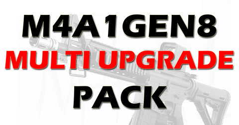 M4A1 GEN8 MULTI UPGRADE PACK 'UPGRADE 1' + 'HULK UPGRADE' + BEARINGS + SHIM KIT