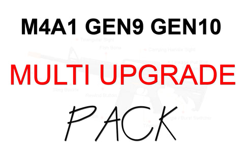 M4A1 GEN9 / Gen10 ACR MULTI UPGRADE PACK 'UPGRADE 1' + 'HULK UPGRADE' + BEARINGS + SHIM KIT