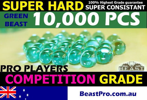 BeastPro 10,000 7-8mm GEL balls HIGH GRADE HARDENED GREEN GEL GUN AMMO - BeastPro Store