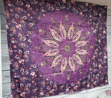 Purple Swirl Mandala Tapestry