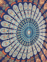 Peacock Shenanigans Queen Tapestry