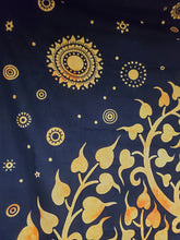 Reversed Tan Elephant Tree of Life Tapestry - Size Twin