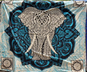 Surf's Up Elephant Queen Tapestry