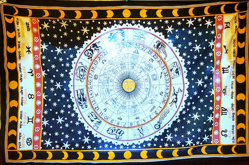 Astrology Tapestry - Size Twin
