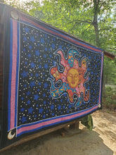 Crazy Color Sun Tapestry- Size Twin