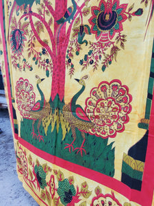 Gold Peacock Tree of Life - Size Twin