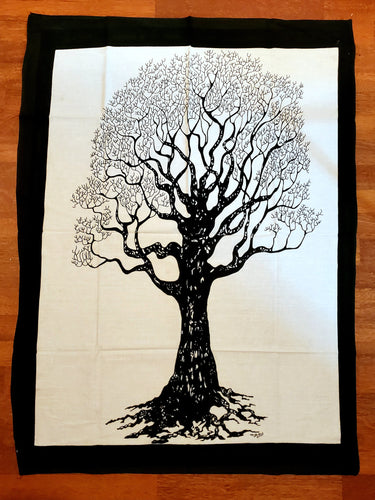 Mini White Tree Tapestry