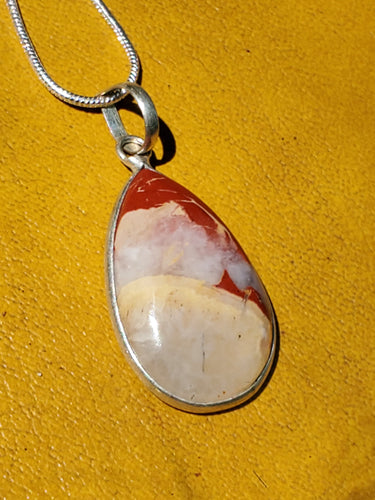 Clay Cloud Silver Necklace