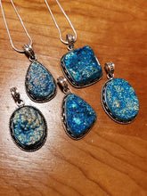 Aquamarine Blue Druzy Necklace