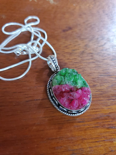 Watermelon Druzy Necklace