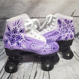 Purple Crystal Roller Skates
