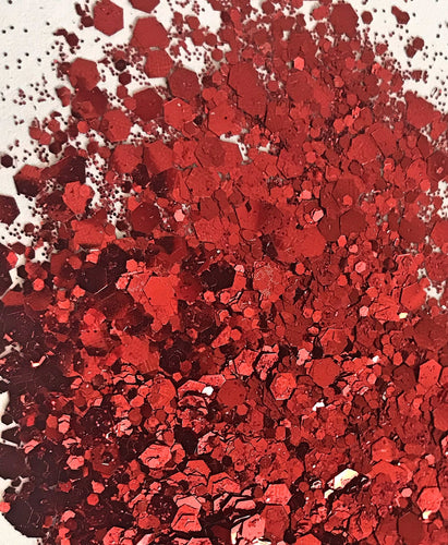 Red Chunky Biodegrable Glitter