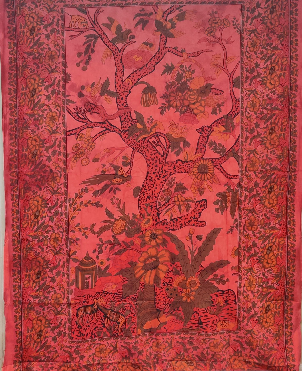 Red Tree of Life Tapestry - Size Twin