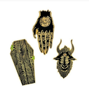 Dark Creature Pin Set Gold