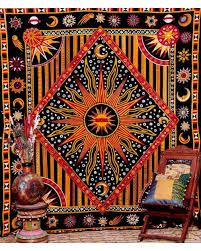 Celestial Sun Star Queen Tapestry