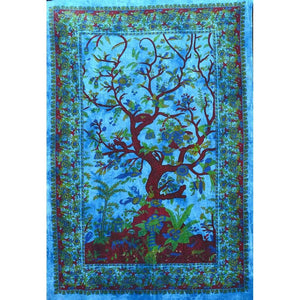 Blue Tree of Life - Size Twin