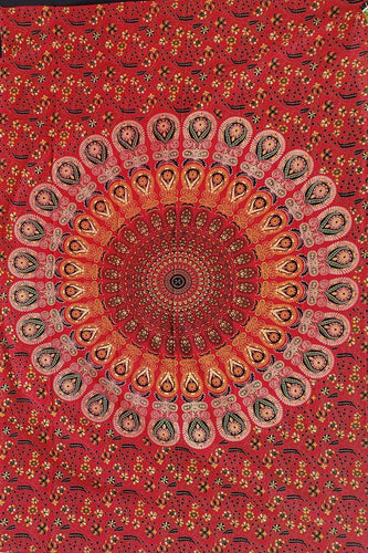 Red Feather Tapestry - Size Twin