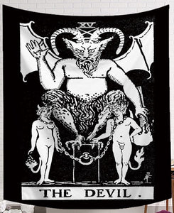 The Devil Tarot Tapestry