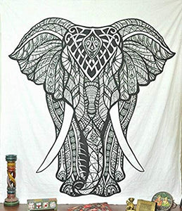 White Elephant Queen Tapestry
