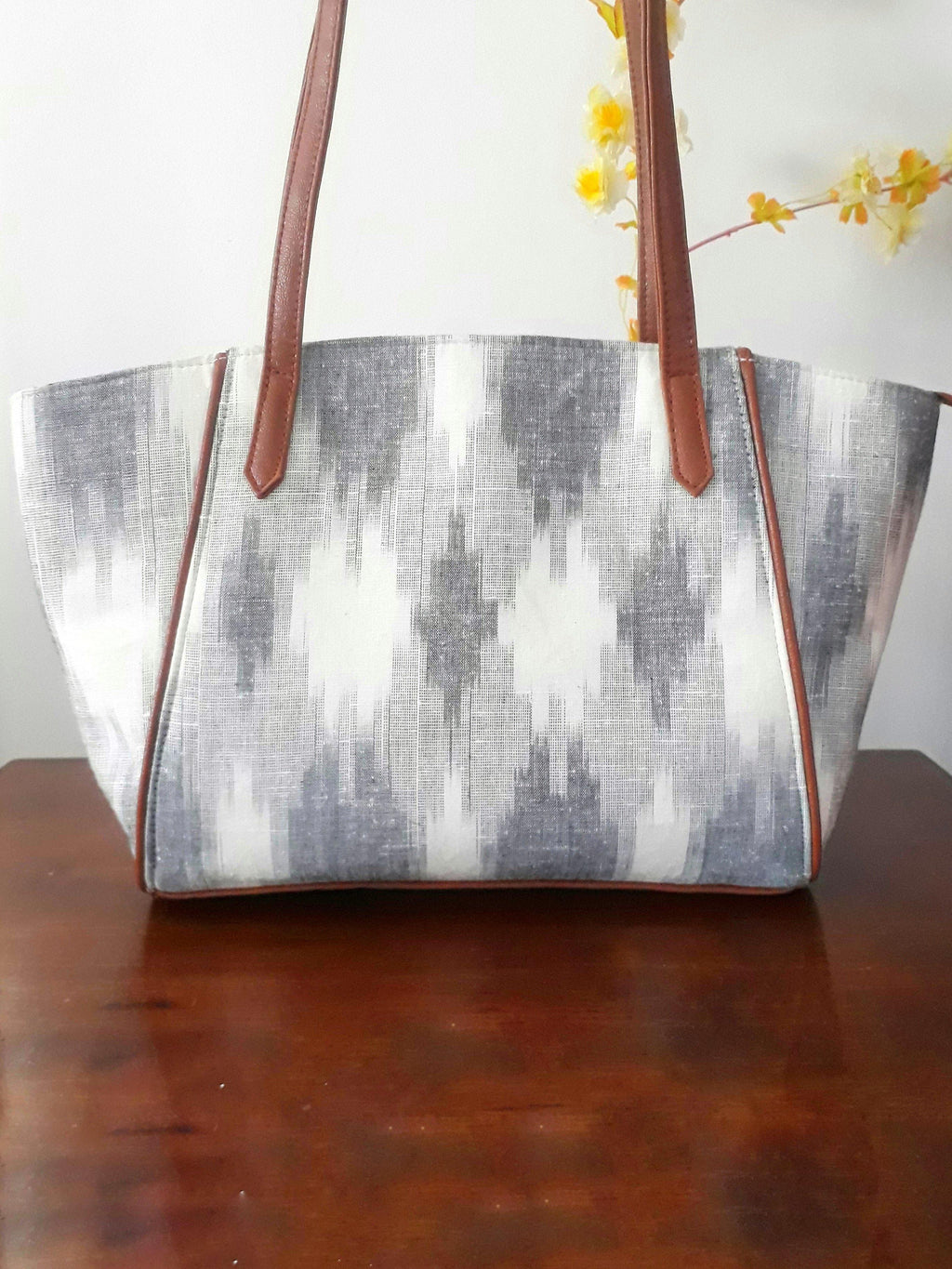 Chalk Ikat tote bag