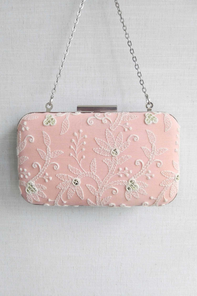Aina Box Clutch - Peach pink