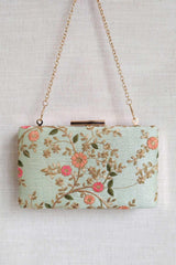 Floral creeper box clutch - Mint - AMYRA