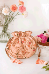 Floral Creeper Potli Peach