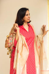 Amna Embroidered Potli - Cream
