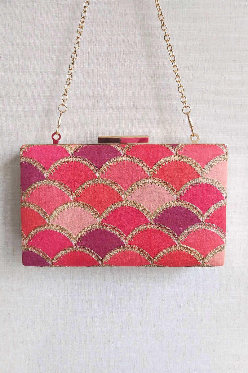 Mehreen shaded clutch - pink