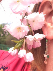 Fan Photo Sakura Cherry Blossom Earrings